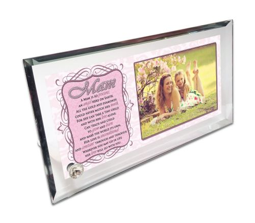 Personalised 'A Mam Is So Precious' Crystal Photo Frame